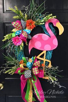 Flamingo Wreath – AshleyNichole Designs