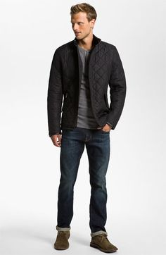 Barbour Quilted Jacket   AG Jeans Straight Leg Jeans  4e21ba2100a
