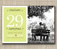 custom photo save the date  date by westwillow on Etsy    I like the typography