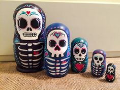 Sugar Skull Nesting Dolls by KPerryKreations on Etsy