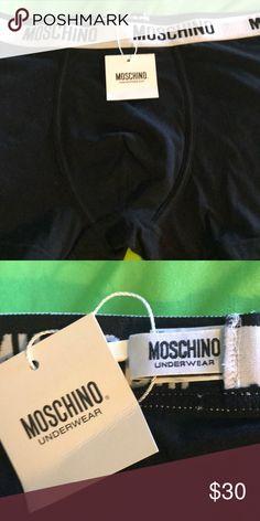 Moschino Men's Black Cotton Boxer Briefs NWT Sz L New w Tags Moschino Underwear & Socks Boxer Briefs