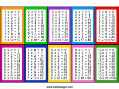 tabelline da stampare Archives - Tutto Disegni Math Worksheets, Math Activities, Kids Education, Special Education, Eureka Math 4th Grade, Multiplication Table Printable, Math Tools, Math For Kids, Anchor Charts