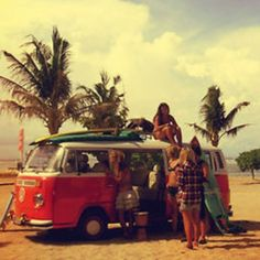 Beach hippies