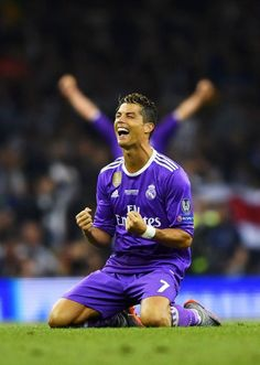 Cristiano Ronaldo has become the first player to score in three UEFA Champions League finals with his 20th-minute goal for Real Madrid.