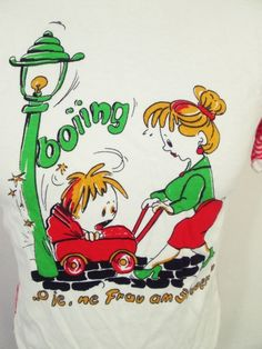 Vintage 80s Bad Parent Crash German Skinny Guy Stretch Euro T-Shirt XXS
