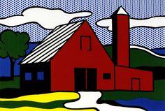 Roy Lichtenstein Red Barn