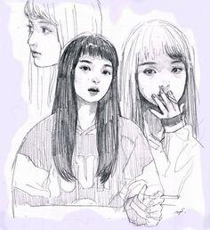 Pretty Art, Cute Art, Drawing Sketches, Cool Drawings, Arte Sketchbook, Wow Art, Aesthetic Art, Art Inspo, Art Girl