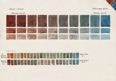 Jane Blundell: Watercolour Comparisons 4 - Burnt Sienna