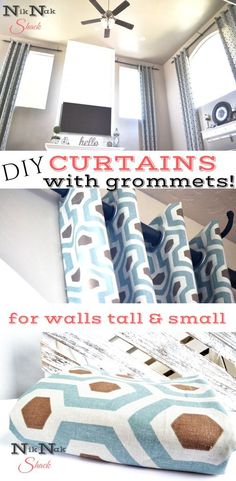 DIY Curtains with gr