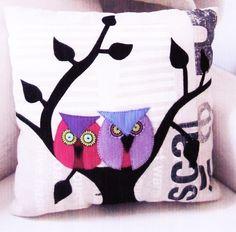 primitive bird applique   Love Bird Cushions - fabulous wool applique pillows…