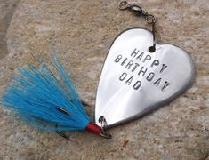 Happy Birthday Dad Gift for Daddy from Son or Daughter Step Dad Adoptive Father Fishing Lure Outdoor Adventure Seeker 32nd 35th 44th 24th