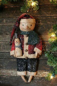 Rustic snowmen.