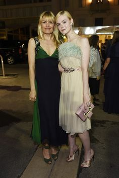 Elle Fanning Photos - Liv Corfixen and Elle Fanning attend Prada Private Dinner during the 70th annual Cannes Film Festival at Restaurant Fred L'Ecailler on May 22, 2017 in Cannes, France. - Prada Private Dinner - The 70th Annual Cannes Film Festival