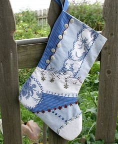 Heirloom quality Crazy Quilt Patchwork Christmas Stocking