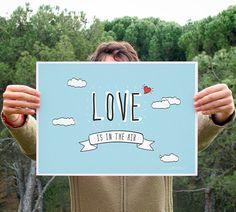 Lamina / Vertical u Horizontal /  Love is in the air. por iamamess, €12.00