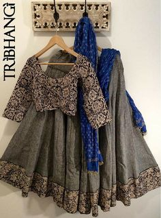 Buy Gray Poly Silk Printed Semi Stitched Lehenga online in India at best price.Product Details Poly Silk Printed Grey Semi Stitched Lehenga - Disclaimer : Color of the actual Pakistani Dresses, Indian Dresses, Indian Outfits, Dresses Dresses, Indian Lehenga, Lehenga Designs, Indian Attire, Indian Wear, Ethnic Fashion