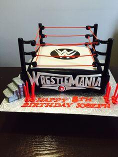 Wrestling cake Wrestlemania