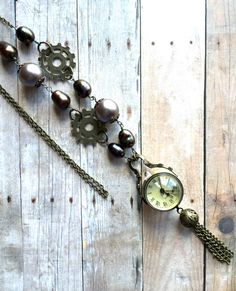 Watch Necklace Real Clock Necklace Vintage Watch by PaHaRa on Etsy