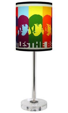 beatles -pop art lamp shade