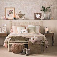 heel mooi met al die decoratie neutrale slaapkamer inrichting slaapkamer slordige chic rustieke slaapkamers