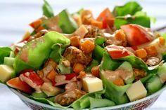 Sałatka szefa Kung Pao Chicken, Cobb Salad, Potato Salad, Food And Drink, Menu, Sweet, Ethnic Recipes, Blog, Noodles