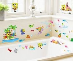 8 Spongebob Squarepants Patrick Star Removable Wall Decal Sticker ...