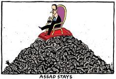 Schot - De Volkskrant, Netherlands - Assad stays - peace talks, geneva, syria, iran, russia, civil war