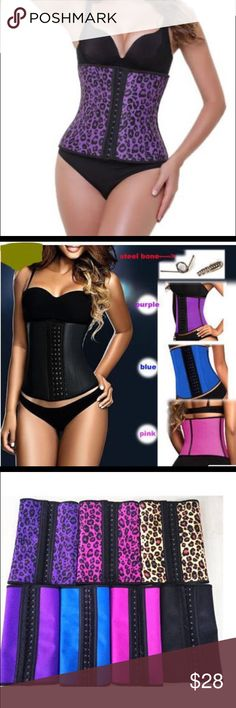 PURPLE ANIMAL PRINT STEEL BONED LATEX WAIST TRAINE FUNCTION: KEEP INCREASING BLOOD FLOW  PROMOTING WEIGHT LOSS. YES. Our latex waist trainer will provide a heat promoting environment for your body to increase your blood flow. It will promote your WEIGHT LOSS whenever in workout or working. the vest matching cinchers are better for your weight loss plan. FULLY STAND BY OUR CORSETS: We accept FULL REFUND if our waist cinchers with quality problem absolutely. And simply EXCHANGE in size. A…