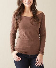 Cocoa Brown Heather Tee - Women by Matilda Jane Clothing #zulily #zulilyfinds