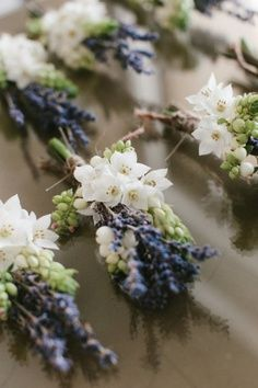 Lavender Boutonnieres. Absolutely could see this at @Kiersten Burkhardt McConnell and Justin's wedding