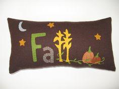 FALL Wool Applique Pillow