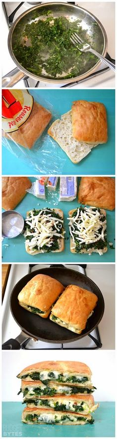 Cook it Quick: Spinach Feta Grilled Cheese