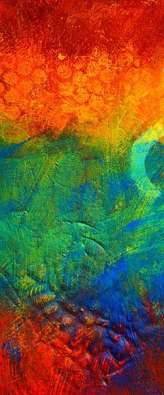 Flame Abstract Painting by Nancy Merkle