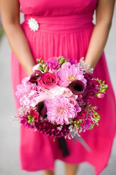 pink wedding flowers pink bridal bouquets adelaide - brides of adelaide magazine