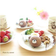 2016.02.03  写真整理中      #foodart #foodpic #foodpics #foodphoto #sharefood #yummy #instafood #cute #cutefood #kawaii #igersjp #homemade #breakfast #キャラパン #ジャッキー #くまのがっこう #朝ごパン #キャラごはん #手捏ねパン by satomi_0819