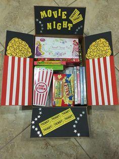 Movie Night Hamper | 20+ Super Easy DIY Christmas Gifts for Him More
