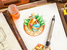 RPG / Icons designed by Mike Game Concept Art, Logo Concept, Insect Tattoo, Sketch Markers, Game Icon, Watercolour Tutorials, Tattoo Drawings, Icon Design, Cool Designs
