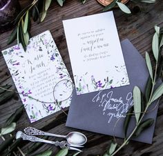 Watercolor invitations 2017 floral invitations