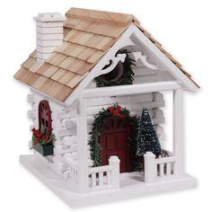 christmas bird houses | Home > Bird Houses > All Bird Houses > Christmas Cabin Bird House