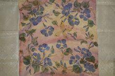 Купить Голубой вьюнок - бледно-розовый, цветочный, 8 марта, платок, Батик, цветы