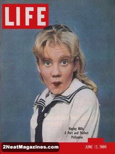 Life Magazine June 13, 1960 : Cover - Hayley Mills in Pollyanna.