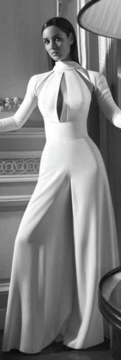 White Jumpsuit. ..Gorgeous