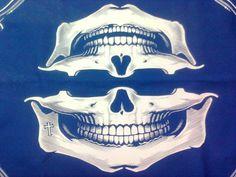 rock lenço para motociclista maxilar caveira, R$. 19,90