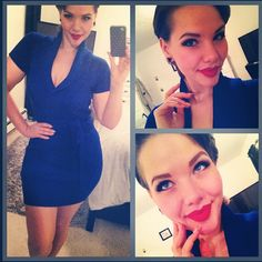 #ladyinbluexomingthrough on my way to the airport! My Christmas present has arrived!! #ellymayday #babyblue #ootd #christmaseve #yvr #vancouvwe #christmas #canadian #bluedress #lips #redlips #makeup #pinup