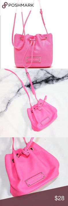 Victoria's Secret Hot Pink Mini Bucket Crossbody This is a micro mini bag. In excellent condition. Like new! Perfect for music festivals! Approx 6 in X 3.5 in X 6 in 🖤THANK YOU for supporting our dream 🖤We ship daily M-Sat 🖤no price discussion in comments🖤 use offer button 🖤reasonable offers accepted 🖤low offers countered🖤offers below 50% of asking price are auto declined🖤 Victoria's Secret Bags Mini Bags