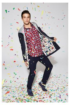 Let's party and celebrate Spring! #desigual #men #awesomecollection #colorful