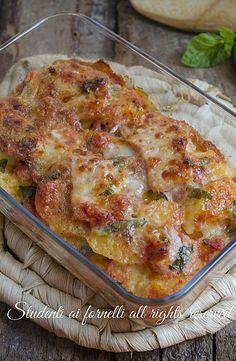 Tortino di patate pomodoro e prosciutto