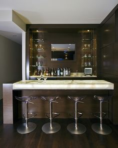 A beautiful bar for entertaining