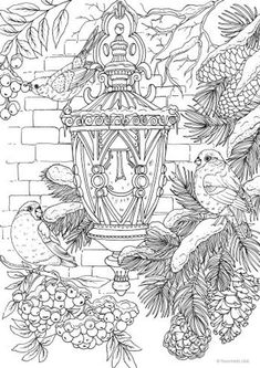 Lantern  - Printable Adult Coloring Page from Favoreads (Coloring book pages for adults, Coloring sh