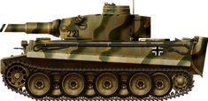 Tiger Ausf E Spz Abt 502 Southern Russia september 1943, Panzerkampfwagen Tiger Ausf.E early production, Schwere Panzer Abteilung 502, Southern Russia, september 1943.
